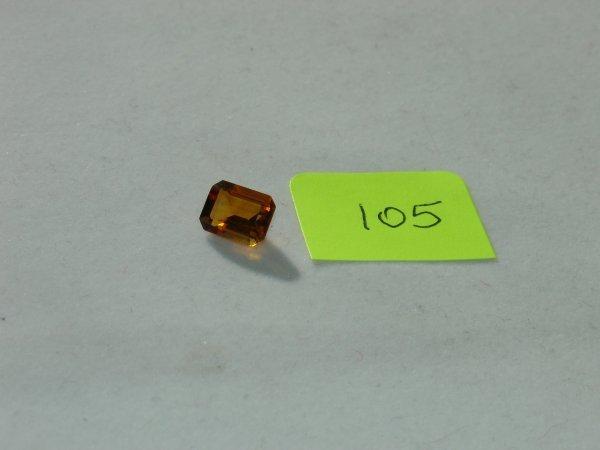 205: Madeira Citrine Semi Precious Loose Stone Certifie