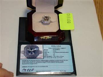 3590: Platinum Diamond Ring