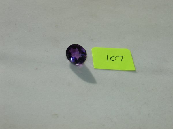 407: Amethyst Semi Precious Loose Stone Certified