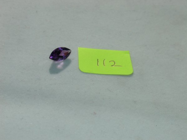 412: Amethyst Semi Precious Loose Stone Certified