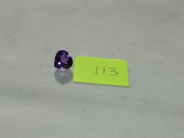 413: Amethyst Semi Precious Loose Stone Certified