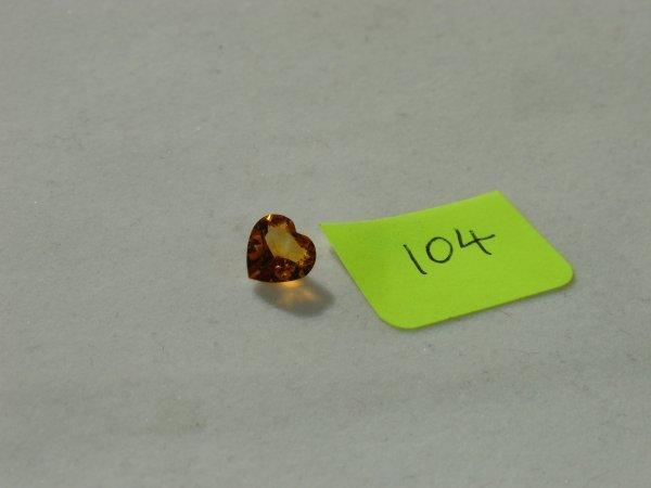 504: Madeira Citrine Semi Precious Loose Stone Certifie