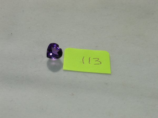 513: Amethyst Semi Precious Loose Stone Certified