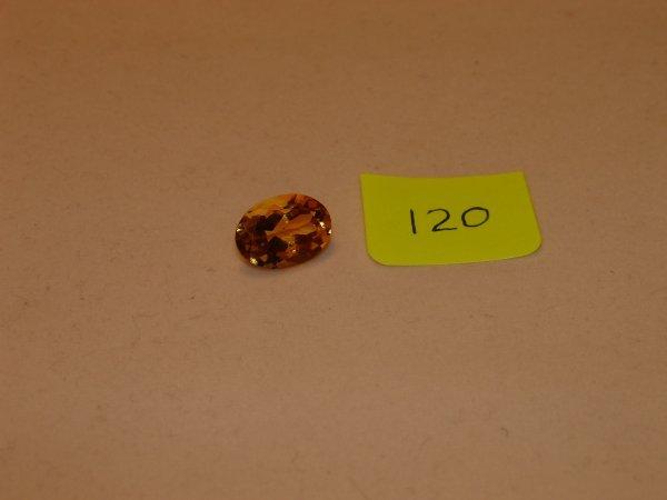 520: Citrine Semi Precious Loose Stone Certified