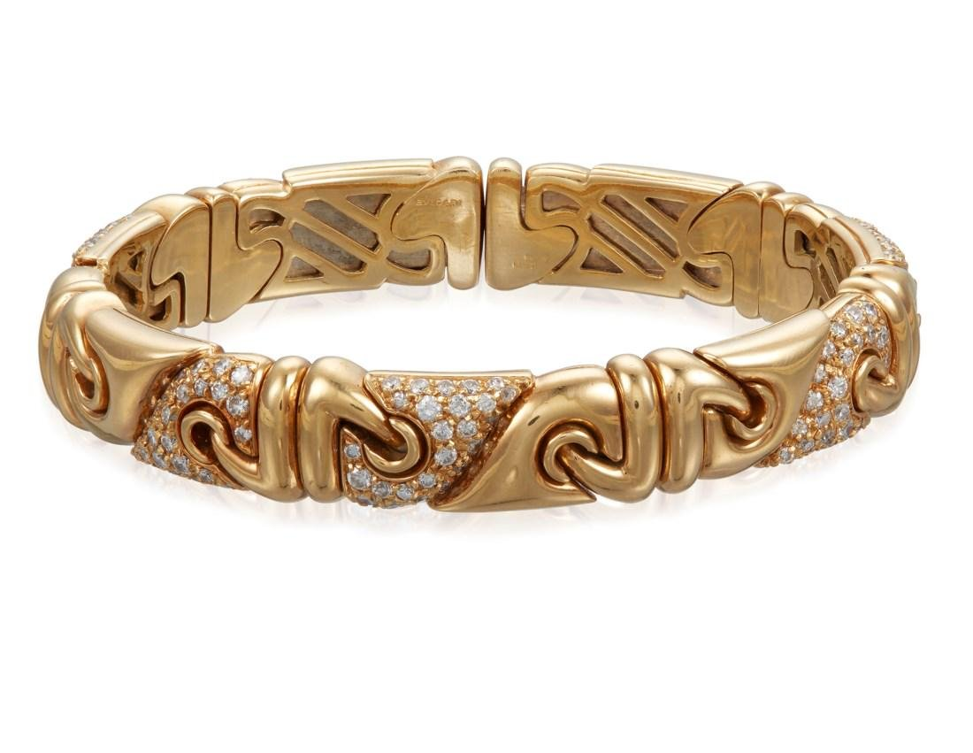 BULGARI DIAMOND AND GOLD BRACELET