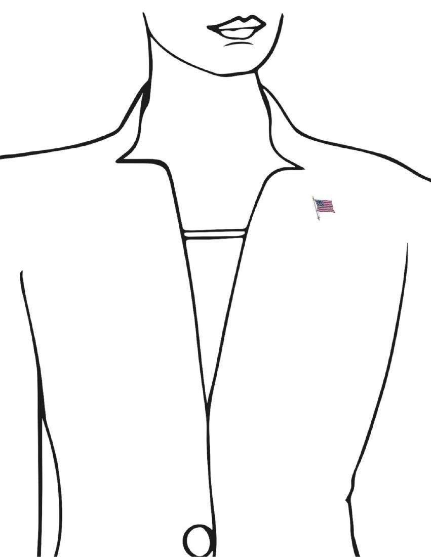 BAILEY BANKS & BIDDLE AMERICAN FLAG PIN - 3