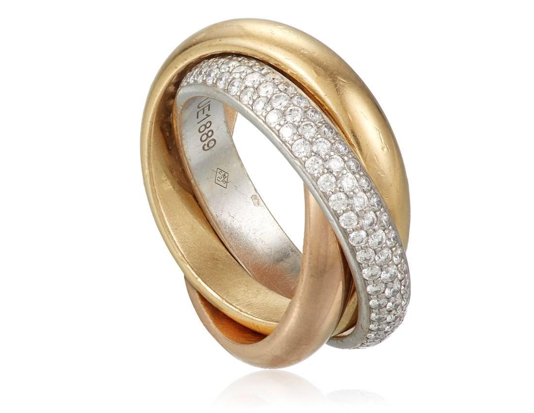 CARTIER DIAMOND 'TRINITY' RING