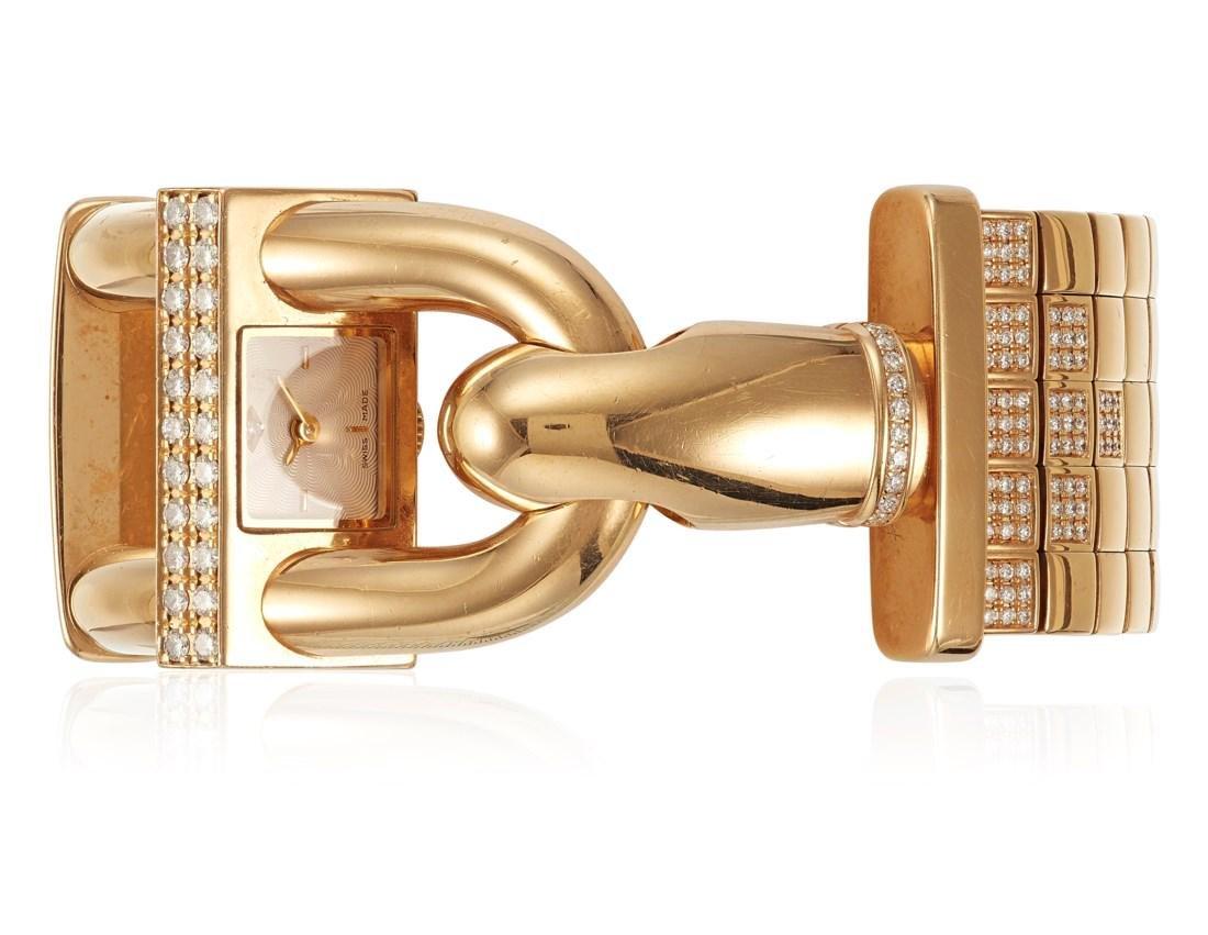 VAN CLEEF & ARPELS 'CADENAS' DIAMOND WATCH