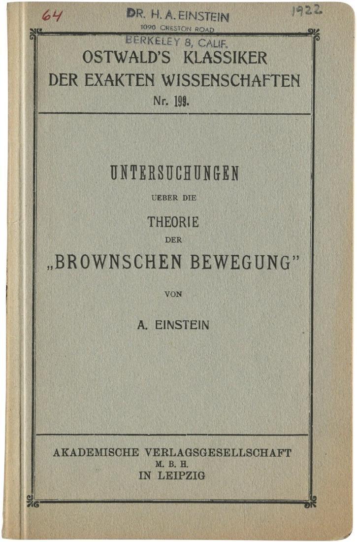 Einstein on Brownian motion