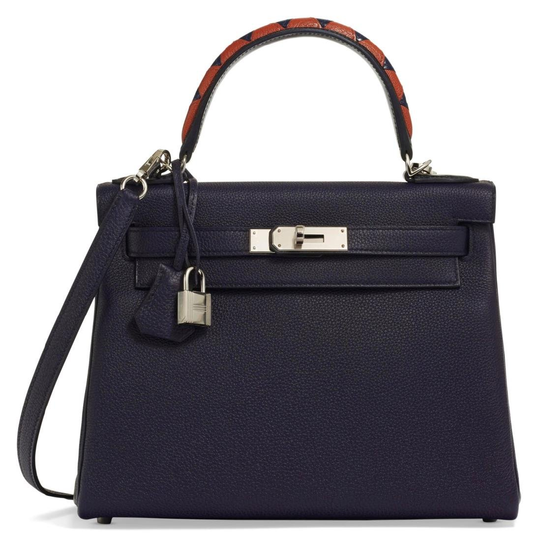 A LIMITED EDITION INDIGO, BLACK & CUIVRE TOGO LEATHER