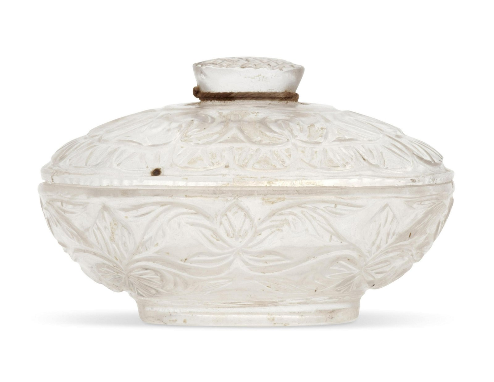 A SMALL ROCK CRYSTAL MUGHAL-STYLE OVAL BOX AND COVER