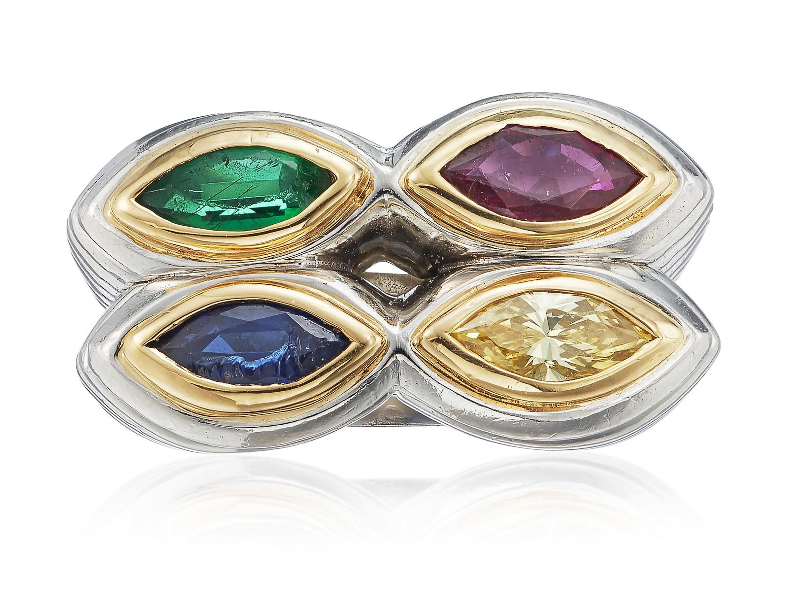 BULGARI MULTI-GEM AND COLORED DIAMOND RING
