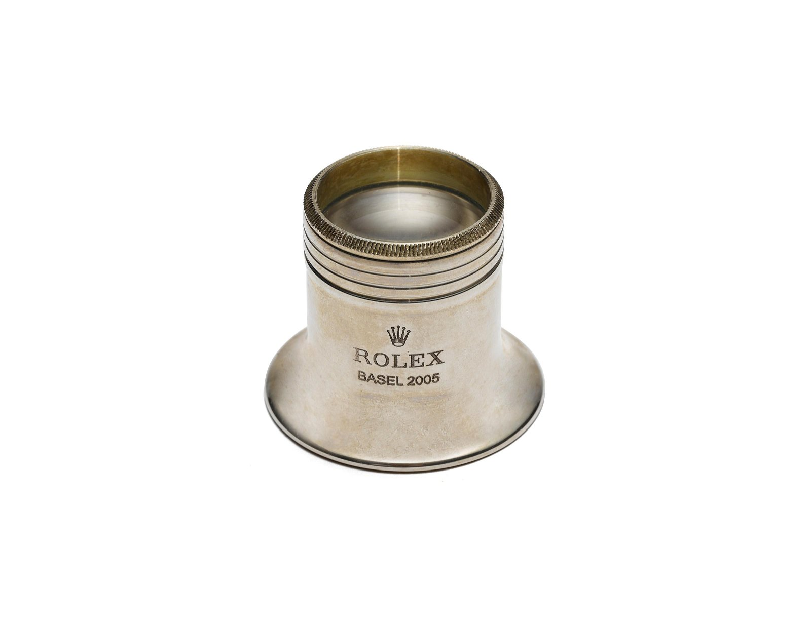ROLEX, A SILVERED LOUPE