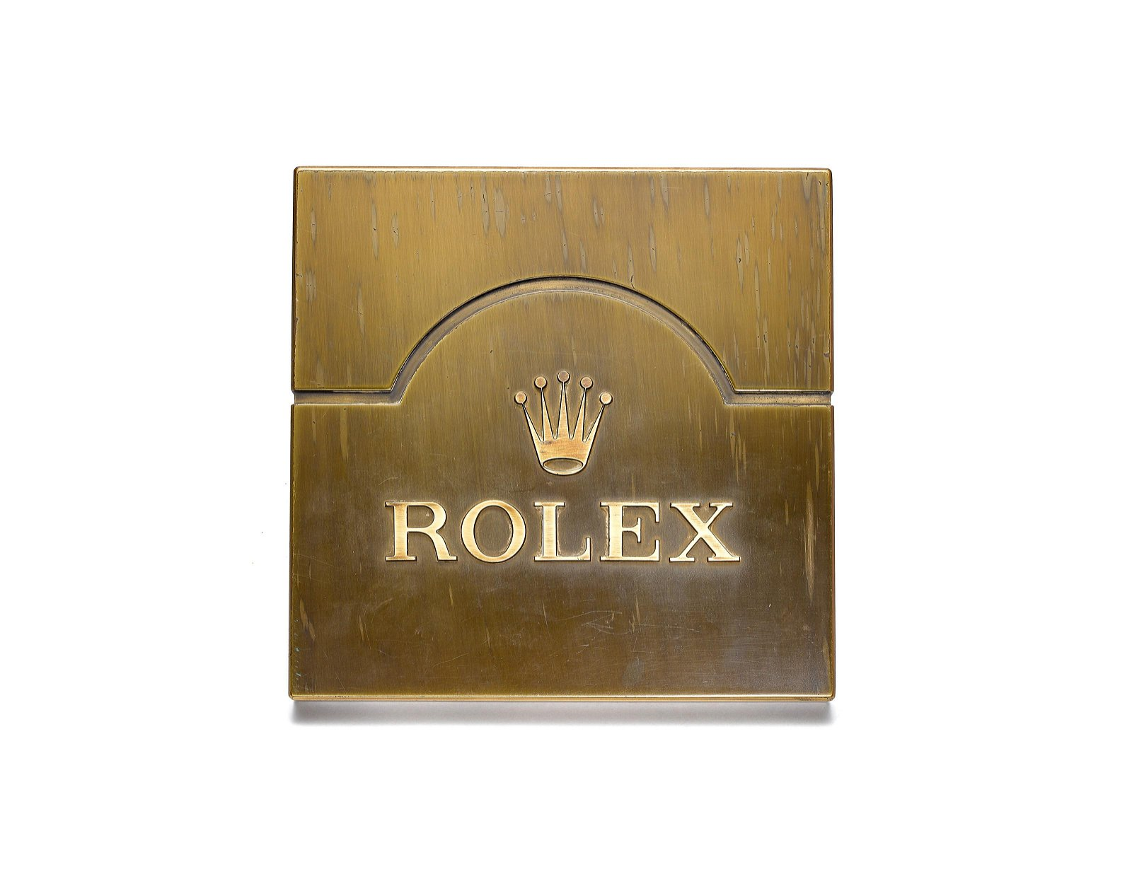ROLEX, AN UNUSUAL BRASS DOOR KNOB