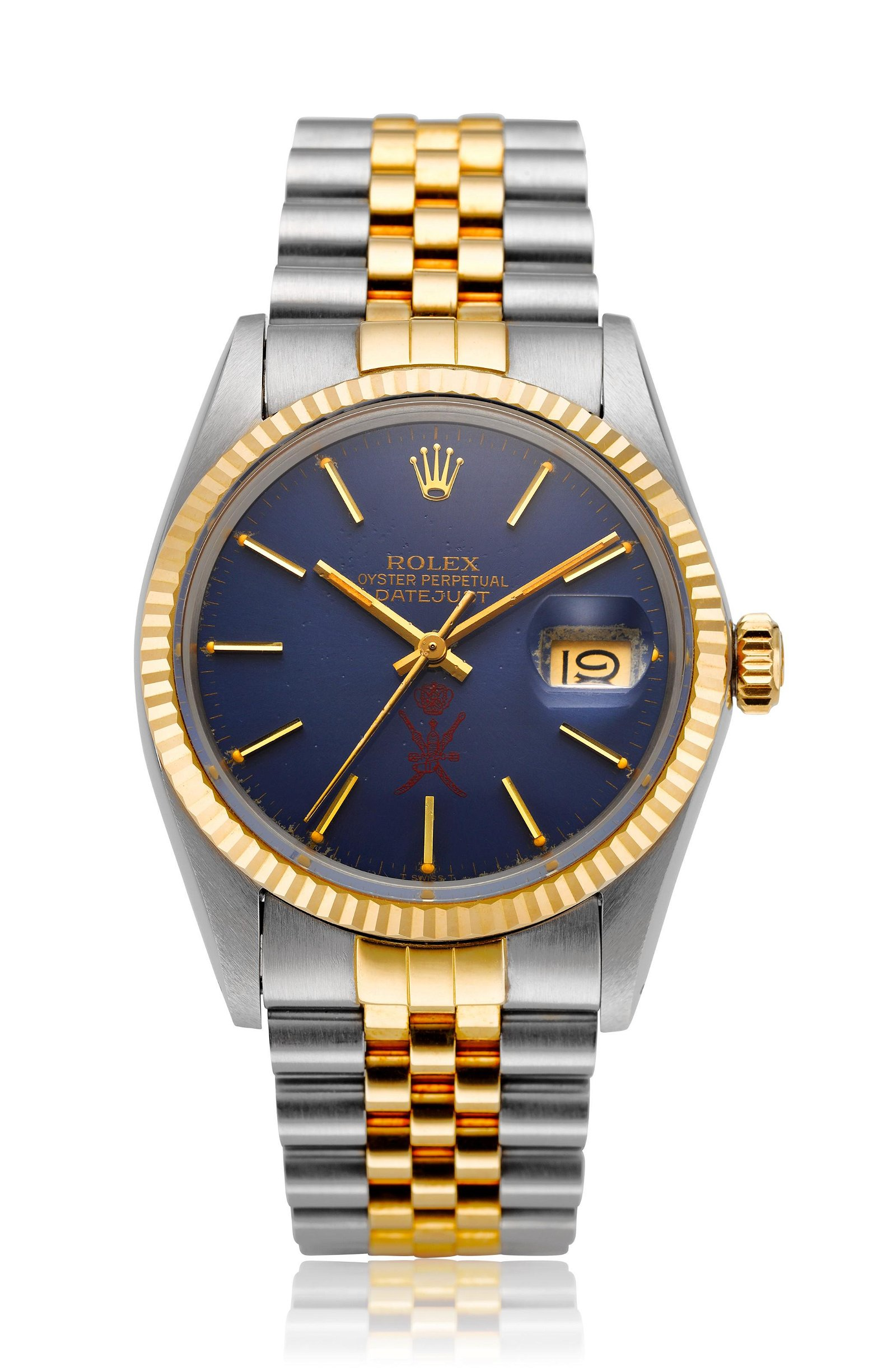 ROLEX, TWO-TONE DATEJUST WITH OMANI DIAL, REF. 16013