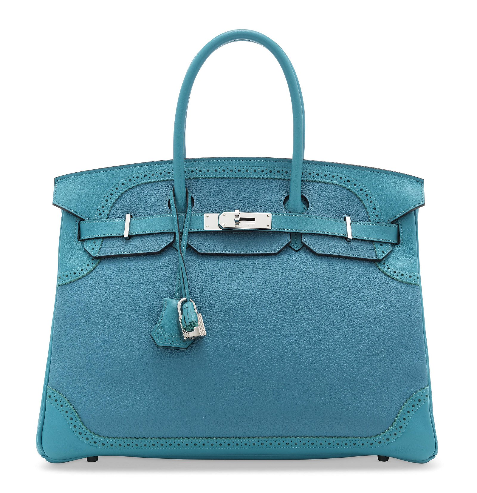 A LIMITED EDITION TURQUOISE TOGO & EVERGRAIN LEATHER