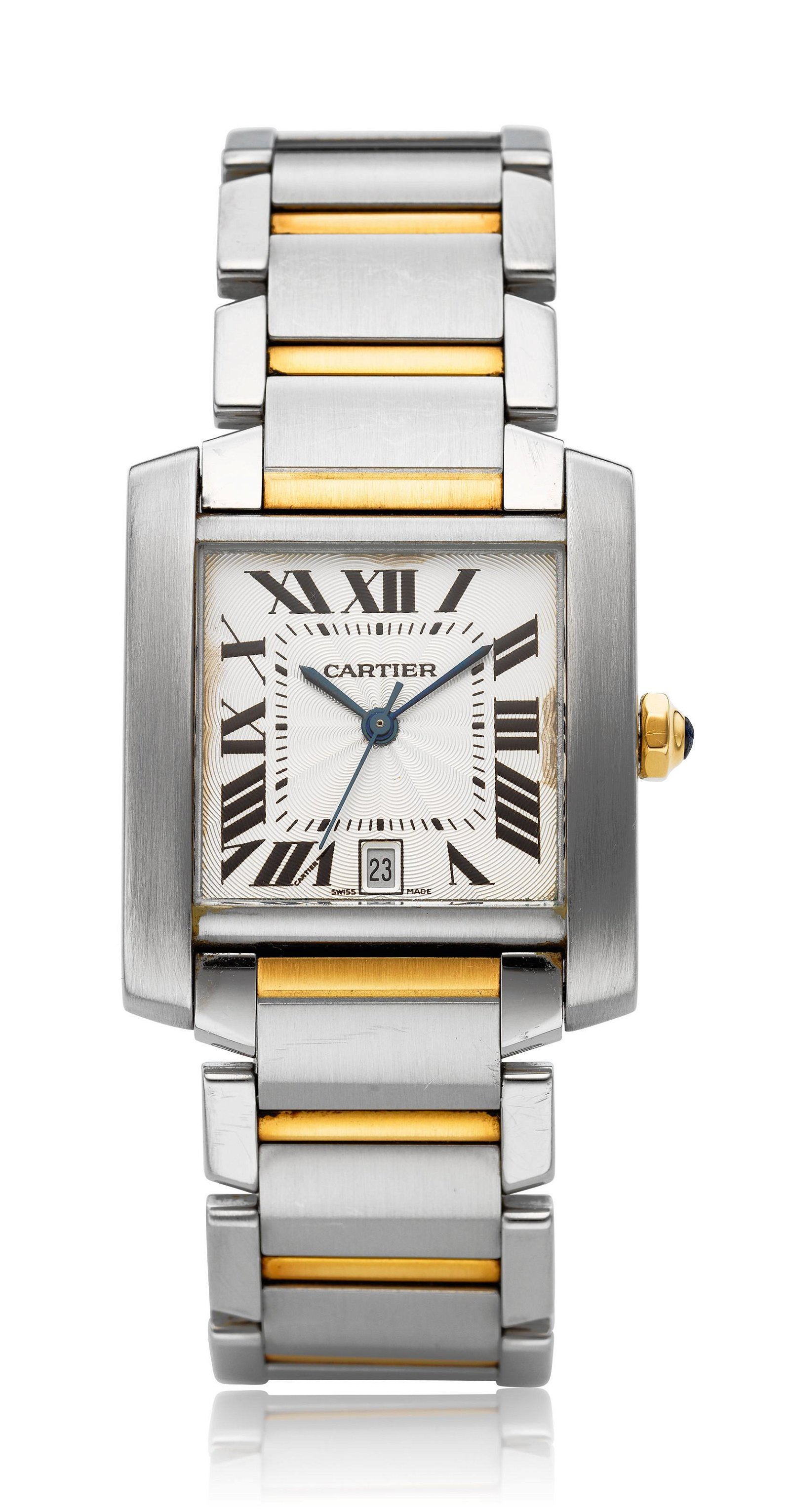 CARTIER, TWO-TONE TANK FRANCAISE, REF. 2302