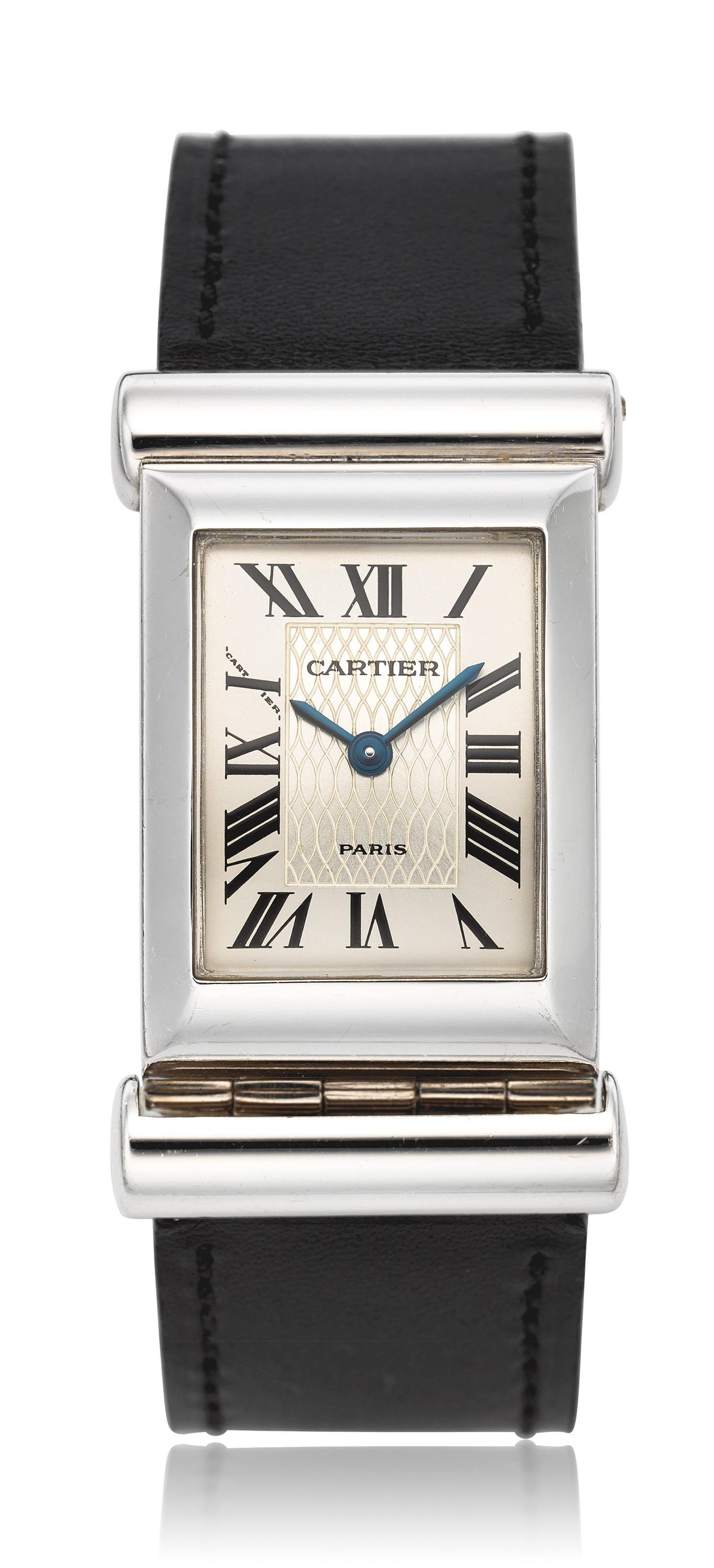 CARTIER, LADIES' 18K 150TH ANNIVERSARY DRIVER'S WATCH,