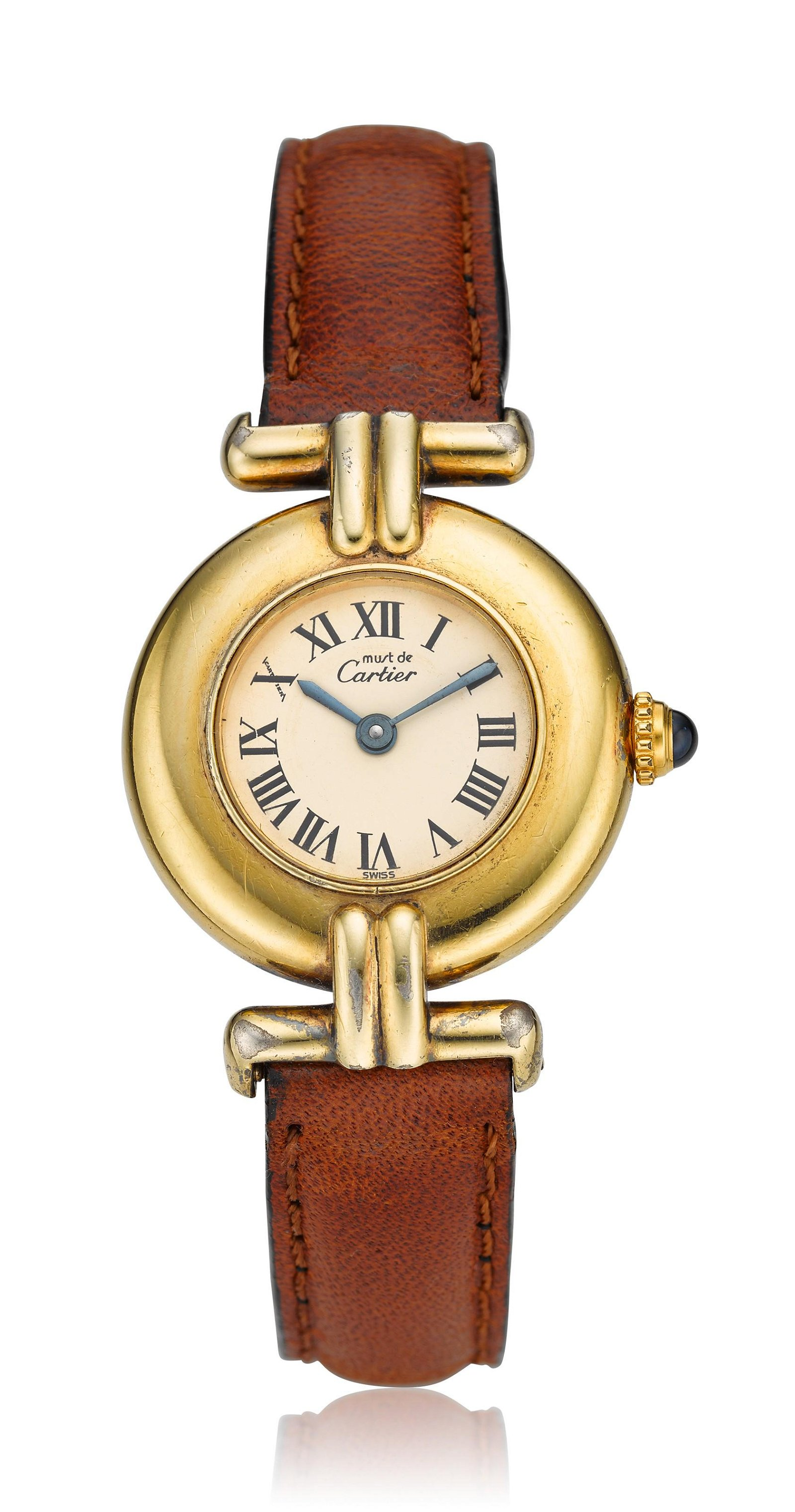 "CARTIER, ""VERMEIL"" LADIES' WRISTWATCH"