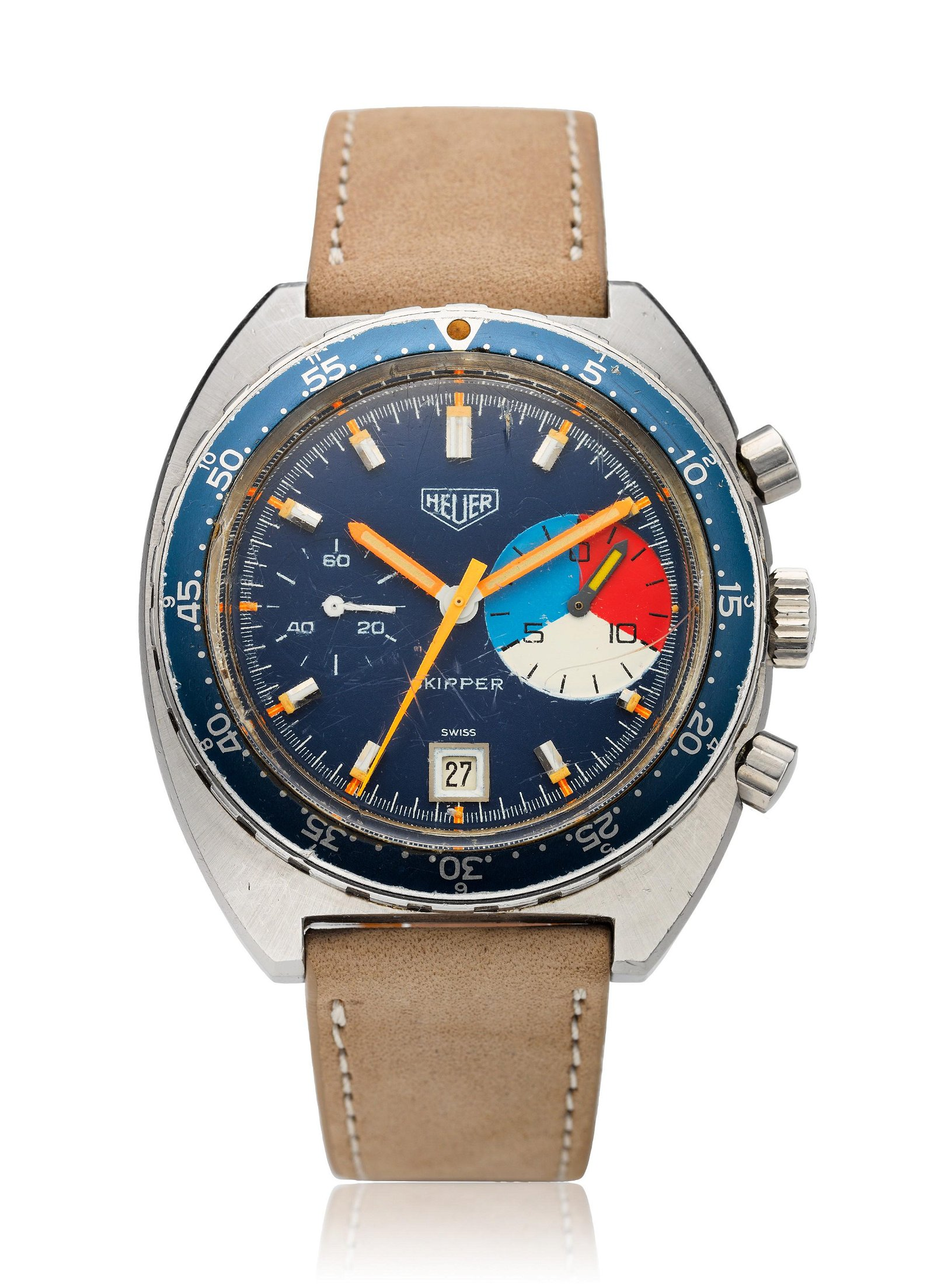 HEUER, FIRST-EXECUTION AUTAVIA CASE SKIPPER, REF. 73463