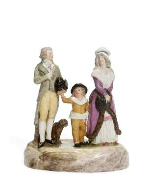 A NAPLES (REAL FABBRICA FERDINANDEA) PORCELAIN FAMILY