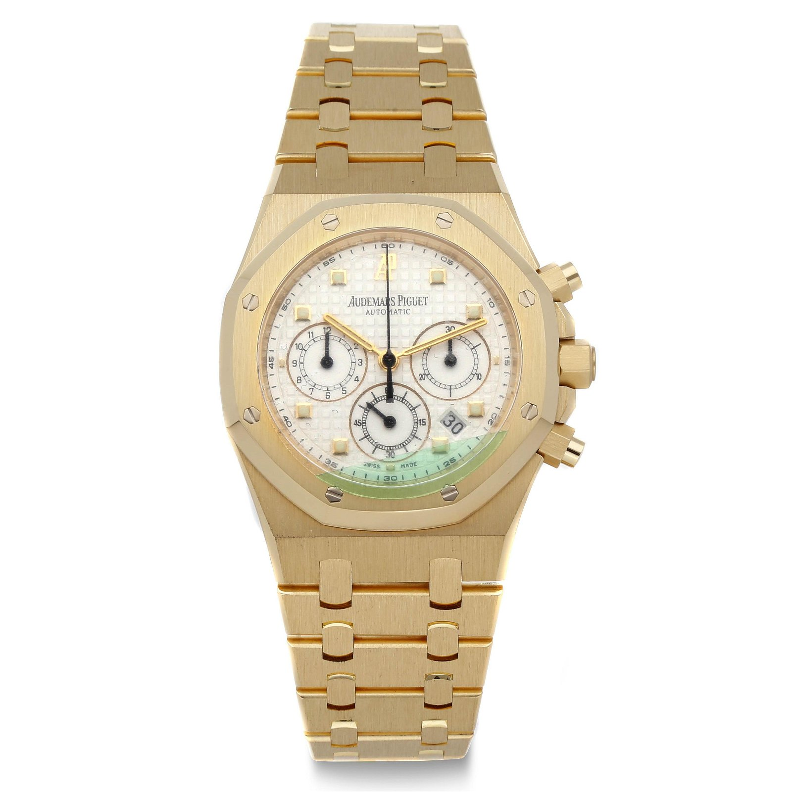 AUDEMARS PIGUET, ROYAL OAK CHRONOGRAPH, 18K GOLD, REF.