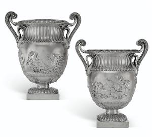 THE TRIUMPH OF BACCHUS: A PAIR OF GEORGE IV WINE