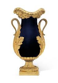 A FRENCH ORMOLU-MOUNTED BLUE-GROUND CHINESE PORCELAIN
