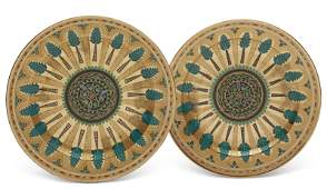 TWO RUSSIAN PORCELAIN PLATTERS FROM THE KREMLIN SERVICE