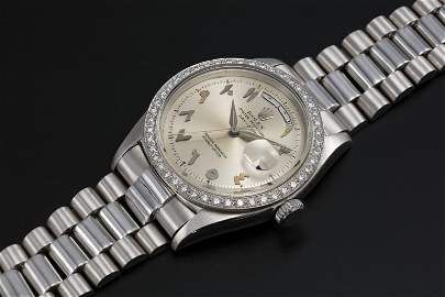 ROLEX, A PLATINUM OYSTER PERPETUAL DAY-DATE WITH