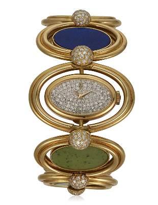 CORUM DIAMOND AND MULTI-GEM WATCH