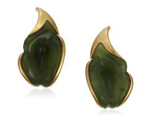 TIFFANY & CO. ELSA PERETTI JADE EARRINGS