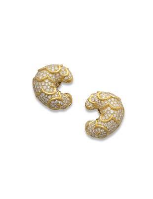 MARINA B DIAMOND 'ONDA' EARRINGS