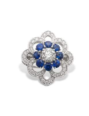 NO RESERVE - GRAFF DIAMOND AND SAPPHIRE RING