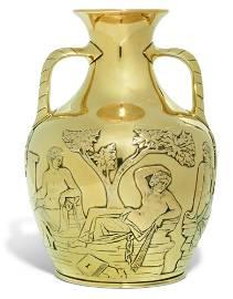 AN ELIZABETH II SILVER-GILT COPY OF THE PORTLAND VASE