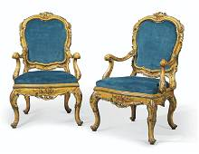 A PAIR OF ITALIAN POLYCHROME-DECORATED 'LACCA'