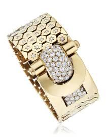 VAN CLEEF & ARPELS RETRO DIAMOND AND GOLD 'LUDO'