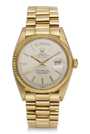 ROLEX, DAY-DATE, 18K YELLOW GOLD, REF. 1803, RETAILED