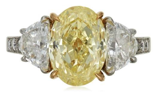 OSCAR HEYMAN & BROTHERS COLORED DIAMOND AND DIAMOND