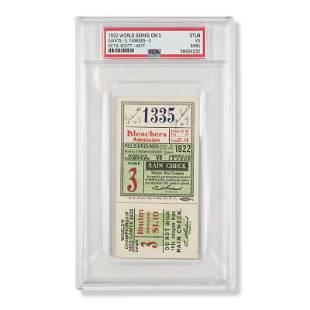1922 World Series Game (3) ticket stub