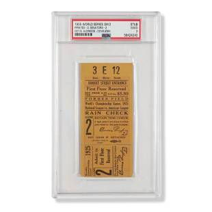 1925 World Series Game (2) ticket stub