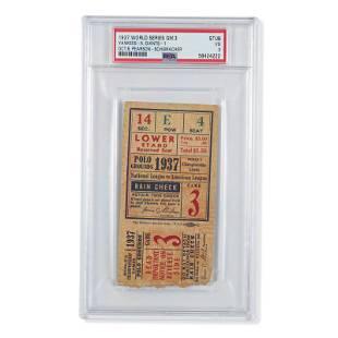 1937 World Series Game (3) ticket stub