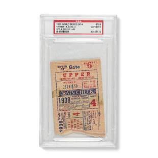 1938 World Series Game (4) ticket stub - Series