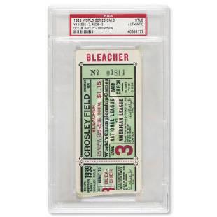 1939 World Series Game (3) ticket stub - Joe DiMaggio