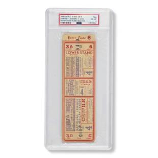 1941 World Series Game (4) full ticket