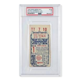 1946 World Series Game (1) ticket stub - Ted Williams