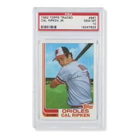 1982 Topps Traded #98T Cal Ripken Jr Rookie (PSA Gem