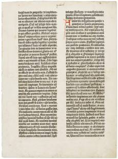 Leaf of the Gutenberg Bible
