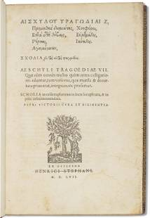 First complete edition of Aeschylus