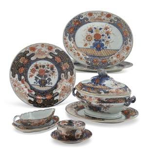 A GROUP OF CHINESE IMARI SERVING WARES